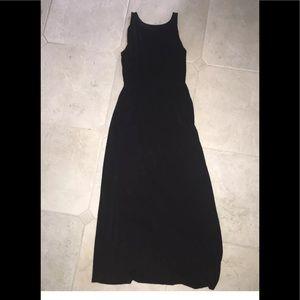 Loft womens black maxi dress